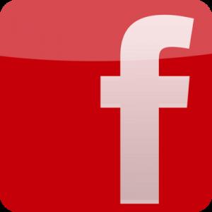 Icône facebbok - rouge